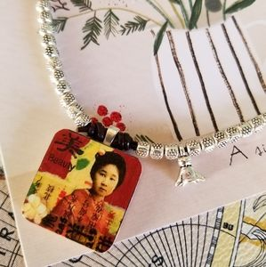 Artisan Wooden Charm Necklace
